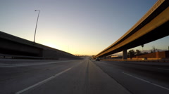 Los Angeles Golden State 5 Freeway Sunset Driving Time Lapse Stock Footage
