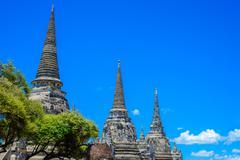 Ancient Pagoda in Wat Phrasisanpetch (Phra Si Sanphet). Ayutthaya historical Stock Photos