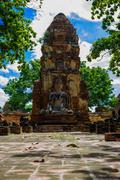 Principal Buddha, a beautiful ancient site in Wat Maha That Ayutthaya as a wo Stock Photos