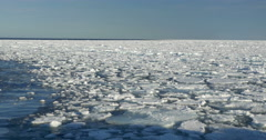 Ice on the sea of Spitsbergen Stock Footage