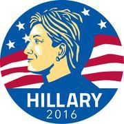 Hillary Clinton President 2016 Stock Illustration