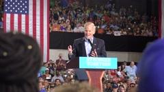 Florida Senator Bill Nelson Speaking At Hillary Clinton Rally In Tampa Audio Stock Footage