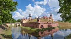 Nesvizh Castle time-lapse Stock Footage