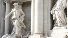 Rome, Trevi fountain, after restoration Stock Footage