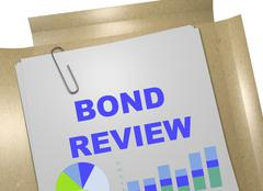 Bond Review concept Stock Illustration
