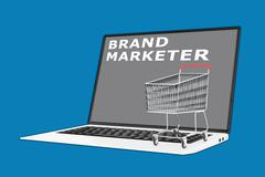 Brand Marketer concept Stock Illustration