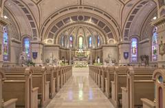 Catholic church interior in Boise Idaho. Stock Photos