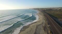High aerial over the California coastline near San Diego. Stock Footage