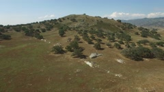 Aerial over a mountaintop in San Diego County. Stock Footage