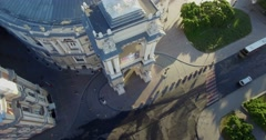 Track around the facade of the Odessa Opera House - stock footage
