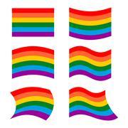 LGBT Flag. set symbol for lesbian and gay community. Developing rainbow flag Stock Illustration