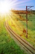 Curved Railroad Track Stock Photos