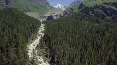 The region in the Caucasus Mountains Stock Footage