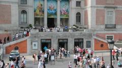 Prado Museum in Madrid, Spain Stock Footage