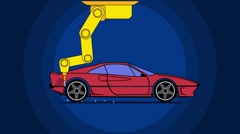 Sportcar assembling - stock footage