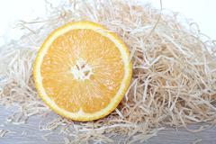 Half orange Stock Photos