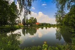 Brancoveanu Monastery in Sambata de Sus, Romania Stock Photos