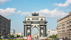 Triumphal arch in Moscow, Stock Footage