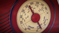 Old radio from 1950 and the years. Stock Footage