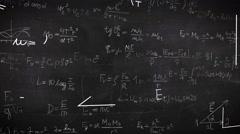 Formula doodle on chalkboard background Stock Footage