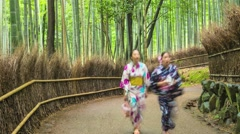 KYOTO BAMBOO FOREST, JAPAN Stock Footage