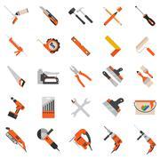 Home repair tools vector icons. Working repair tools for repair and construct Stock Illustration