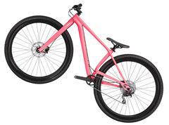 Mountain bicycle bike isolated on white background Stock Photos