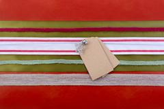 Holiday Gift Wrapping Background. Stock Photos
