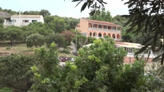 4K Traditional building architecture in Corfu Island rural village life olive Stock Footage