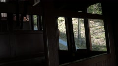 Heidelberg funicular cable cars crossing - seen fronm inside Stock Footage