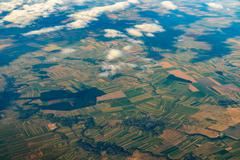 Earth Photo From 10.000m (32.000 feet) Above Ground Stock Photos