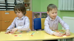 Five year old child playing Stock Footage
