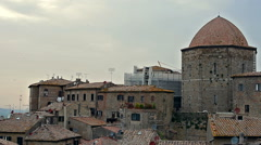 Volterra, an old tuscan town Stock Footage