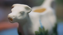 Rotation ceramic figurines Stock Footage
