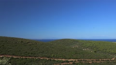 Panorama of the Sithonia peninsula countryside. Chalcidice, Greece Stock Footage