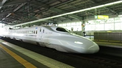 KYOTO: The Shinkansen train is arriving at Kyoto JR Station Stock Footage