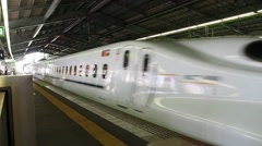 KYOTO: The Shinkansen train is departing from Kyoto JR Station Stock Footage