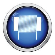 Inductor coil icon Stock Illustration