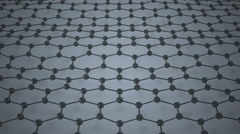Dark atoms moving in dark honeycomb network. Stock Footage