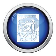 Circuit icon Stock Illustration