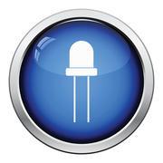 Light-emitting diode icon Stock Illustration