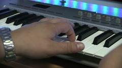 Man Playing Electronic Keyboard Stock Footage