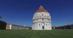 The Baptistery of Pisa. - stock footage