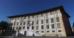 Palazzo della Carovana, Scuola Normale's main building, Pisa Stock Footage
