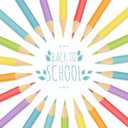 The school background Stock Illustration
