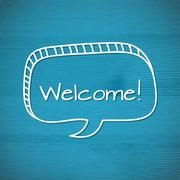 The welcome inscription Stock Illustration
