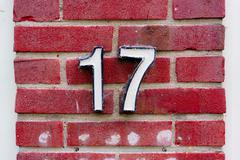 House number 17 Stock Photos