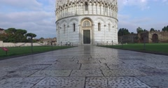 The Baptistery of Pisa. Stock Footage