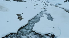 Beautiful Landscape of Snow Mountain Landscape Stock Footage