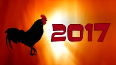 2017 Happy New Year. Year of the rooster Stock Footage
